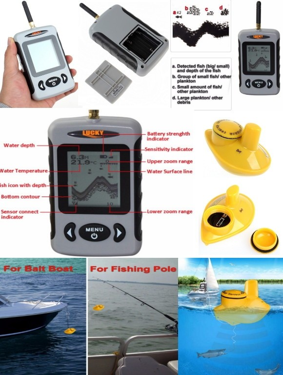 эхолот fish finder ffw718 lucky