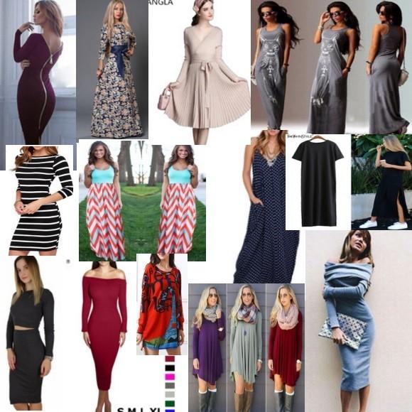 Длинные платья на АлиЭкспресс