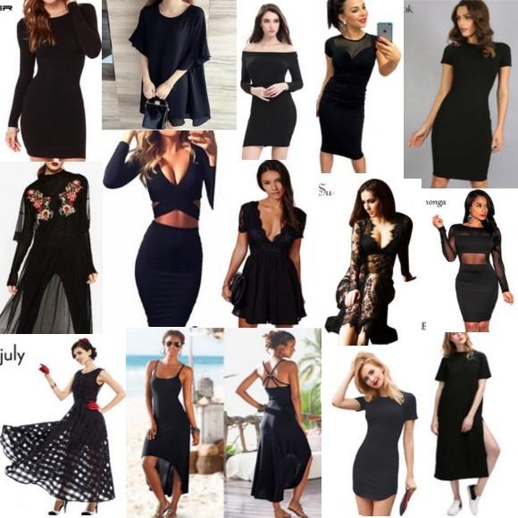 Черные платья на АлиЭкспресс