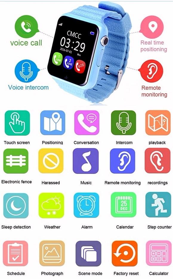 Детские часы V7K Smart Baby Watch с Камерой и с GPS трекером