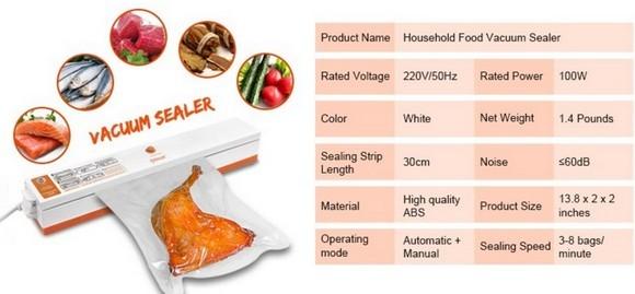 Характеристики вакуумного упаковщика с АлиЭкспресс